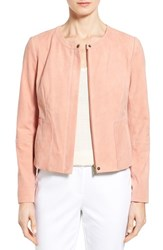 Women's Nordstrom Collection Collarless Suede Jacket