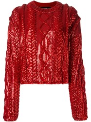 Filles A Papa 'Alba' Sweater Red