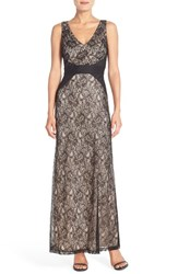 Women's London Times Lace Fit And Flare Maxi Dress