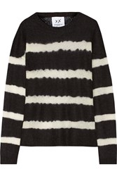 Banjo And Matilda Striped Open Knit Sweater Black