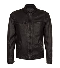 Allsaints All Saints Lark Leather Biker Jacket Male Black
