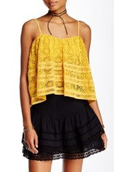 Free People Sydney Lace Tube Top Yellow