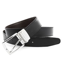 Menlook Label Evan Black Brown Reversible Belt