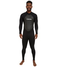 Xcel Wetsuits 3 2Mm Xplorer Os Full Suit All Black Silver Ash Logos Men's Wetsuits One Piece