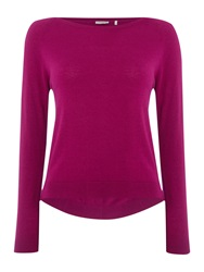 Marella Gerico Pleated Back Sweater Magenta