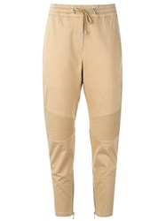Balmain Biker Track Pants Nude And Neutrals