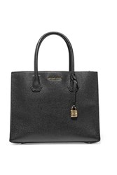 Michael Michael Kors Mercer Large Textured Leather Tote Black