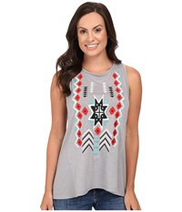 Roper 0444 Lightweight Jersey Tank Top Grey Women's Sleeveless Gray