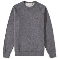 Maison Kitsune Tricolour Fox Crew Sweat Black