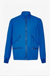 French Connection Fosbury Cotton Twill Jacket Royal Blue