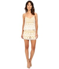 Lovers Friends Henna Romper Ivory Women's Jumpsuit And Rompers One Piece White