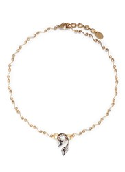 Erickson Beamon 'Milky Way' Swarovski Crystal 24K Gold Plated Swirl Necklace Metallic