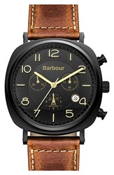 Men's Barbour Chronograph Leather Strap Watch 42Mm