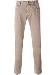 Jacob Cohen Slim Fit Jeans Nude And Neutrals