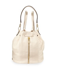 Elizabeth And James Cynnie Quilted Leather Drawstring Backpack Cream