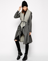 Religion Victorious Wrap Coat Jetblack