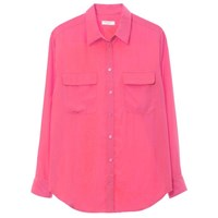 Equipment Slim Signature Blouse Hot Pink