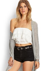 Forever 21 Strapless Crochet Crop Top