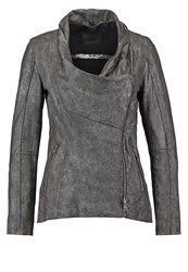 Oakwood Leather Jacket Silver