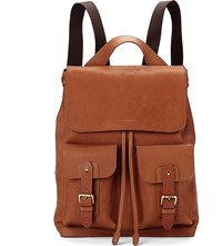 Aspinal Of London Shadow Leather Rucksack Tan