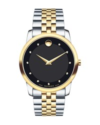 40Mm Museum Classic Two Tone Watch Black Movado