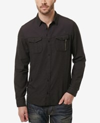 Buffalo David Bitton Men's Sipex Shirt Charcoal