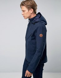 Timberland Hooded Windbreaker Jacket Water Resistant In Navy Dark Sapphire