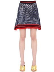 Gucci Heavy Lurex And Cotton Knit Skirt