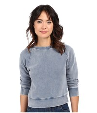 Free People Vintage Crop Pullover Indigo Women's Long Sleeve Pullover Blue