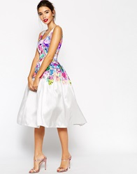 Asos Beautiful Floral Super Full Prom Dress Multi