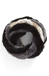 Love Token Women's Genuine Rabbit Fur Infinity Scarf