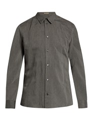 Bottega Veneta Pinstriped Button Down Shirt Charcoal