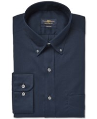 Club Room Men's Big And Tall Classic Fit Wrinkle Resistant Deep Ocean Solid Dress Shirt Only At Macy's