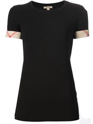 Burberry Brit Check Cuff T Shirt Black