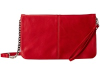Mighty Purse Vegan Leather Charging Flap X Body Bag Red Handbags