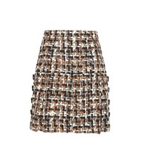 Dolce And Gabbana Wool Blend Tweed Miniskirt Multicoloured