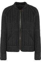 Isabel Marant Cristen Textured Leather Jacket Black