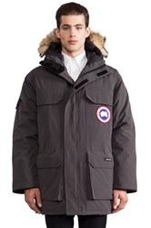 Canada Goose Expedition Parka With Coyote Fur Collar Charcoal