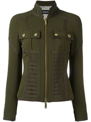 Dsquared2 Bustier Detail Military Jacket Green