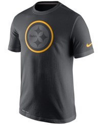 Nike Men's Pittsburgh Steelers Travel T Shirt Anthracite