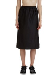 Baserange Mid Length Silk Jogging Skirt Black