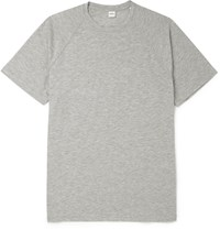 Aspesi Slim Fit Cotton Blend Jersey T Shirt Gray