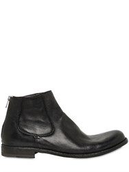 Officine Creative Washed Leather Ankle Boots