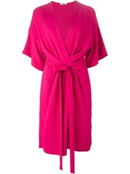 Issa Midi Wrap Dress Pink And Purple