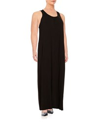 Lord And Taylor Plus Knit Maxi Dress Black