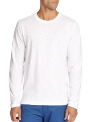 Saks Fifth Avenue Long Sleeved Cotton Tee Navy White Black