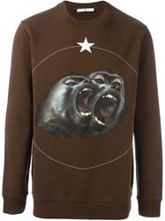 Givenchy Monkey Brothers Sweatshirt Brown