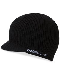 O'neill Men's Signal Brimmed Embroidered Logo Beanie Black