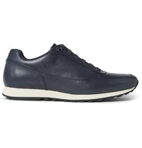 Hugo Boss Breeze Leather Sneakers Blue