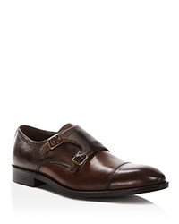Gordon Rush Hudson Monk Strap Loafers Chocolate